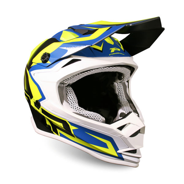Casco 3009-320 giallo fluo/blu scuro Kid