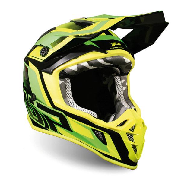 Helmet 3180-321 green / yellow fluo