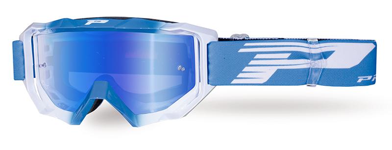 Maschera 3200-327 FL azzurro/bianco