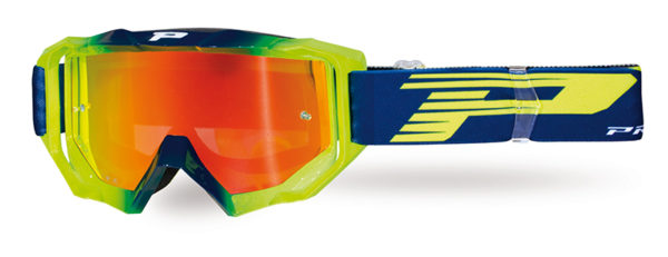 Goggle 3200-336 FL navy blue / fluorescent yellow