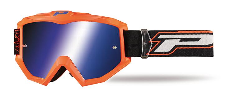 Maschera 3204-153 FL arancione fluo opaco