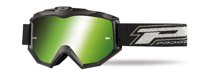 Maschera 3204-183 nero opaco/verde