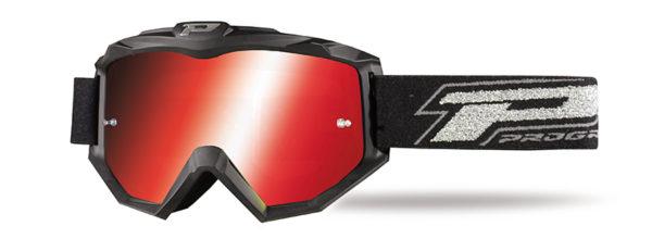 Maschera 3204-185 nero opaco/rosso