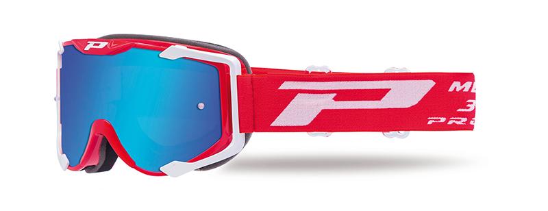 Maschera 3400-130 FL rosso/bianco