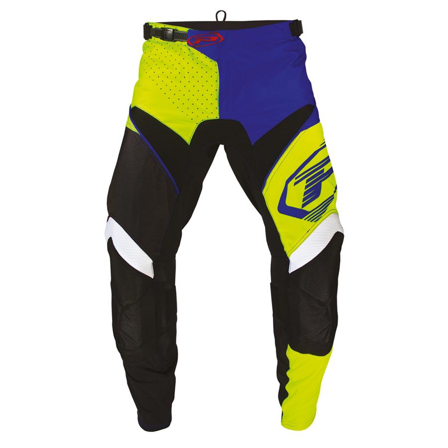 Pantalone 6009-340 nero/giallo fluo/blu elettrico