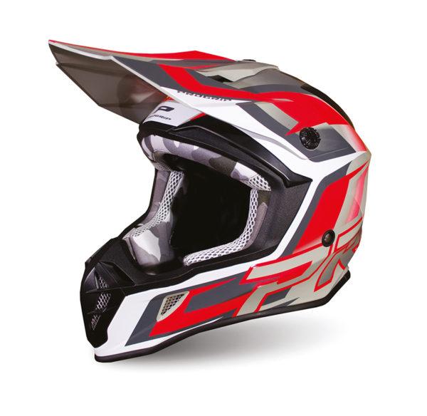 Helmet 3180-288 gray / red