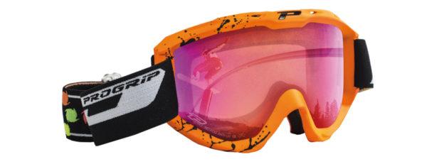 Snow Goggles 3460-166 arancione fluo