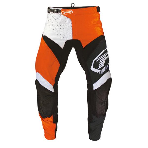 Pantalone 6009-346 bianco/arancione/nero