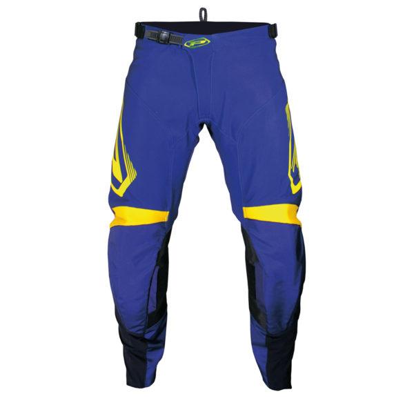 Pantalone 6010-326 blu scuro/giallo fluo